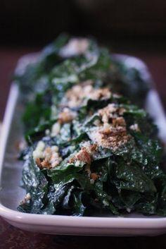 kale caesar salad // #recipe