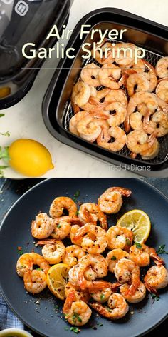 Air fried shrimp uses hardly any oil and is so healthy! Air frying is a game changer to cook shrimp with less fat and it's keto friendly too. Low carb is best!