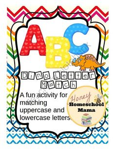 ABC Dino Letter Match - A Uppercase and Lowercase Letter Recognition Activity from HoneyHomeschoolMama on TeachersNotebook.com -  (15 pages)  - This cool little activity has students matching uppercase and lowercase letters on cute dinosaurs. You can use it as a file folder activity as well as a center!