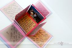 Exploding love box -when you take the lid off there are 24 sides to fill out/ decorate for the person you are giving it to!