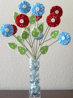 Polka Dot Pineapple: Recycled Posie Bouquet