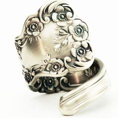 Vintage Buttercup Floral Sterling Silver Spoon Ring by Spoonier