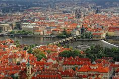 View from Petrin Observation Tower- Prague, Czech Republic