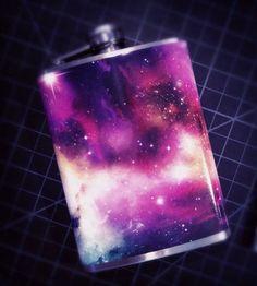 Cosmos Galaxy Flask