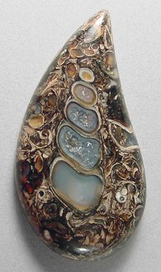 Whoa...now this is exceptional!  TURRITELLA agate cabochon  From Silverhawk's designer gemstones.