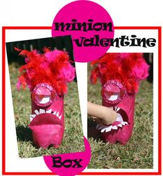 Minion Valentine Box - Made from an upcycled Soda bottle!