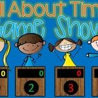 All About Time Jeopardy style game show .. by request!  Excellent practice for your 2nd Grade students. With 25 practice problems, in a game show s... game shows, style game
