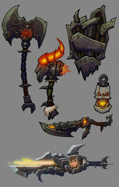 Wow style weapons polycount forum more fantasy weapons handpainted wow