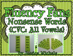 "**FREEBIE in the PREVIEW** What are Nonsense Word Fluency Fans? Nonsense Word Fluency Fans are groups of fan ""blades"" that students can use to practice their fluent reading of nonsense words. Each blade contains a list of 5 different nonsense words. 50 in all! $"