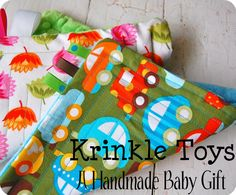 baby girl gifts, handmade baby, shower gifts, sewing projects, handmade tags, baby gifts, krinkl toy, baby toys, babi gift