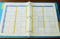the teacher wife: how to create your own teacher binder...Includes a downloadable lesson plan template for PowerPoint...SO much easier than using Word.