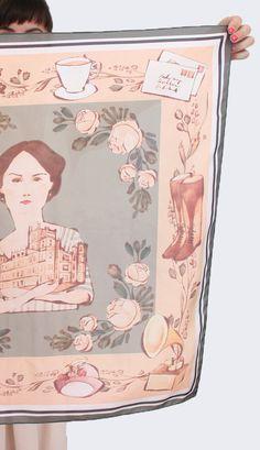 a lady mary scarf!  AH!    Heirloom Silk Scarf