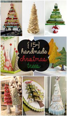 15+ Handmade Christmas Trees - SO CUTE for DIY Christmas decor!!