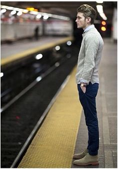 oh man, I'd love to do a couple shots at a subway stop. men styles, outfit, casual winter, street styles, men fashion, shoe, boots, blues, style fashion