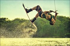 — minneapolis wakeboard + wakeboarder + wakeboarding flip by Dan Anderson