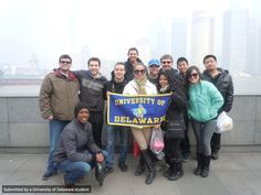UD students pose in Shanghai, China, Winter 2014!