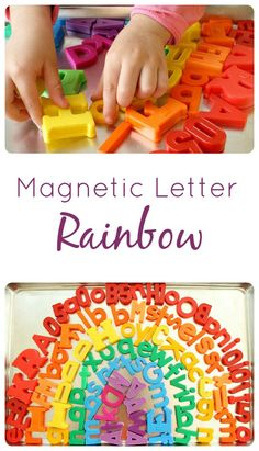 Magnetic Letter Rainbow Color Activity from @Shaunna Nygren Nygren @ Fantastic Fun and Learning