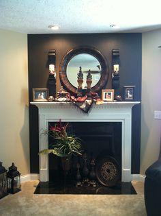 Mantle an fireplace decor.
