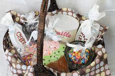 Ice cream sundae gift basket.