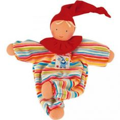 Kathe Kruse Gugguli Waldorf Doll. Super soft cotton velour and wool stuffing. It's a doll and blankie in one! $29.95