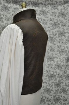 Men's Victorian vest fashioned after Sweeney Todd