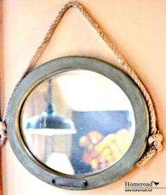 beach deco, hang mirror