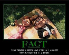Pixar created a better lover story in 8 minutes than Twilight did in 4 books.