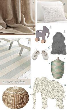neutral and serene nursery board