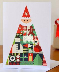 card, print patterns, christma