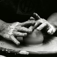 That point where the clay slides around your hands in a perfectly symmetrical form. Where it has so much potential and only the blueprints in the potter's mind.