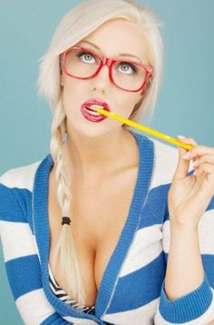 sexy teacher #sexystudent #sexysweater #redglasses