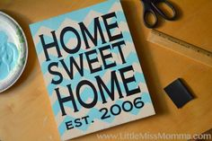 How to use vinyl to create a stencil :: by Little Miss Momma
