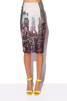 SKIRT IN TIMES SQUARE PRINT