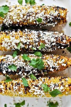 The Best Grilled Corn with Bacon Butter and Cotija Cheese. | howsweeteats.com