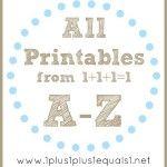 All Printables A-Z