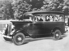 Chevrolet Suburban (Made in Arlington, Texas)—this is the first model, from 1935!