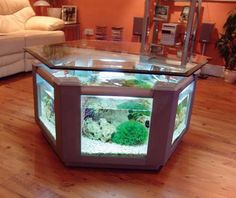 Shopping for one of these and just found it!!Awesome Unique Aquarium Living Room Table #Art #Design #Custom #Furniture #Unique