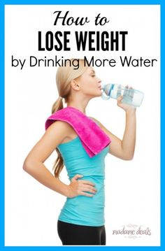 Tips on how to lose weight by drinking more water. With free printable to keep track of your progress.