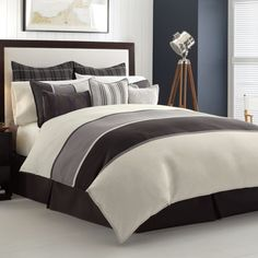 Twin Duvet Cover (Nautica Oyster Point) Gray