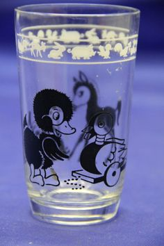 1950's Kraft Kiddie Kups Duck / Pony Swanky Swig Juice Glass