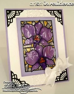 Stained Glass Orchid