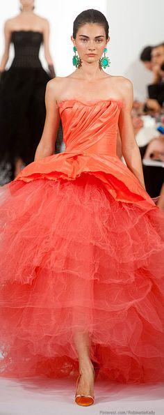 Oscar de la Renta | S/S 2014. fashion weeks, la renta, color, renta spring, dress fashion, dresses, gown, new york fashion, oscar de