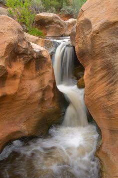 Tantalus Falls on Pleasant Creek west of Capitol Reef National Park, Utah