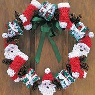 christma wreath, christmas wreaths, christmas crafts, crochet projects, christma crochet, craft supplies, crochet christmas, crochet patterns, holiday crochet