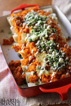 No-Bake Vegetarian Enchiladas (Gluten-Free) [Beard + Bonnet]