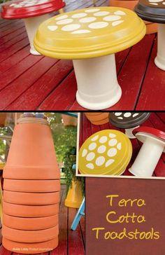 Terra Cotta Toadstools from Hobby Lobby! (photo courtesy of Hobby Lobby on Facebook)