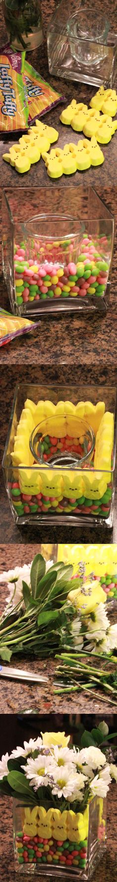 How to create a Peeps centerpiece #DIY #Easter #Peeps @Brittany Horton Horton Horton Long maybe you will get one of these