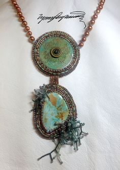 Turquoise Sandbar created by Lynn Parpard One of a Kind Art Piece Royston Turquoise on Etsy, $310.00