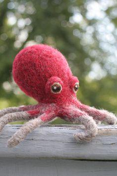 Octopus Needle Felted