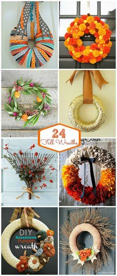 24 fall wreath ideas at tatertots and jello